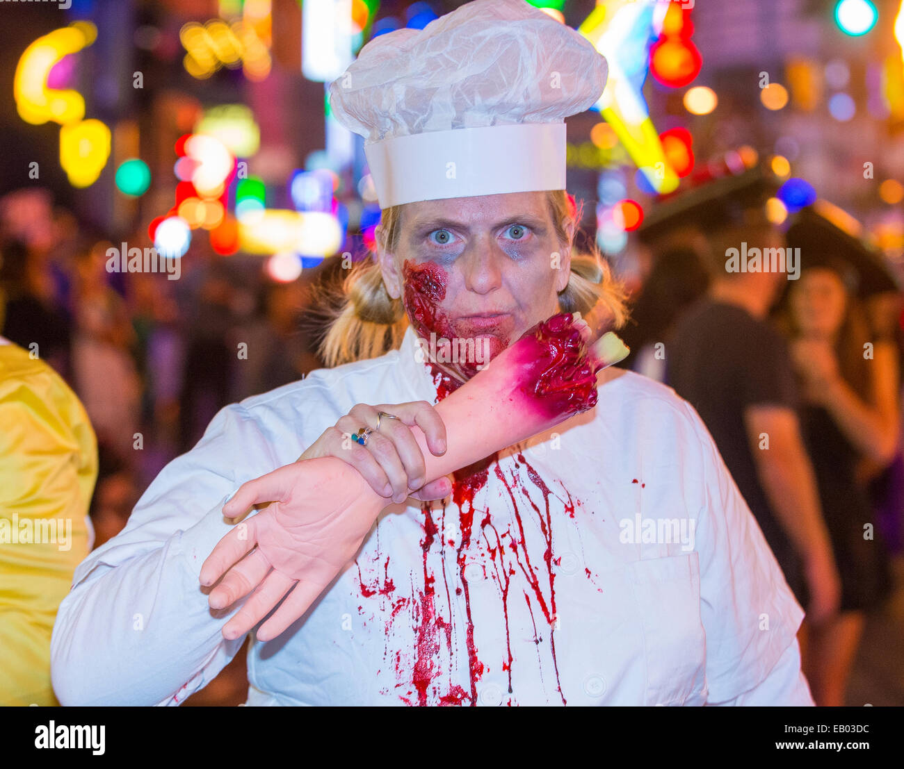 An unidentified participant at the annual Las Vegas Halloween ...