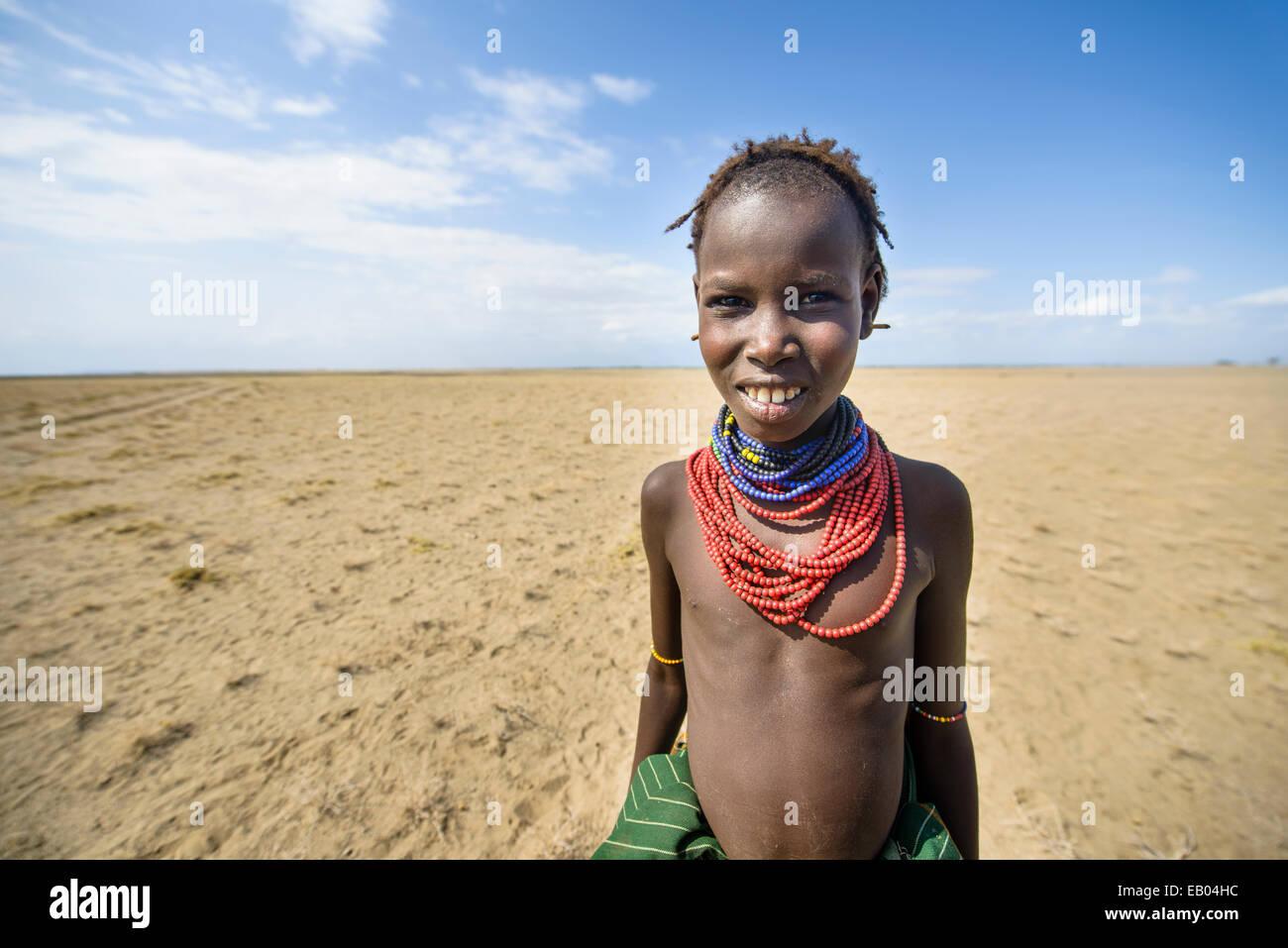 tribe kids Kids of the Dassanach tribe, Kenya