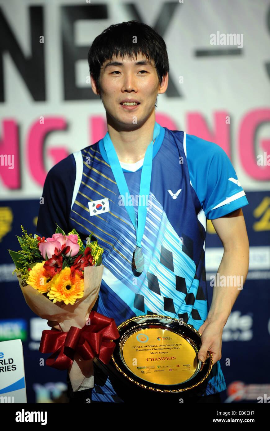 Hong Kong China 23rd Nov 2014 Son Wan Ho of South Korea poses