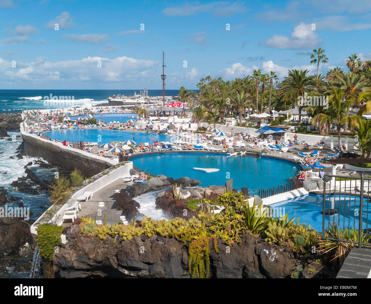 The Lido San Telmo or Costa Martianez in Puerto de la Cruz, Tenerife Stock Ph...