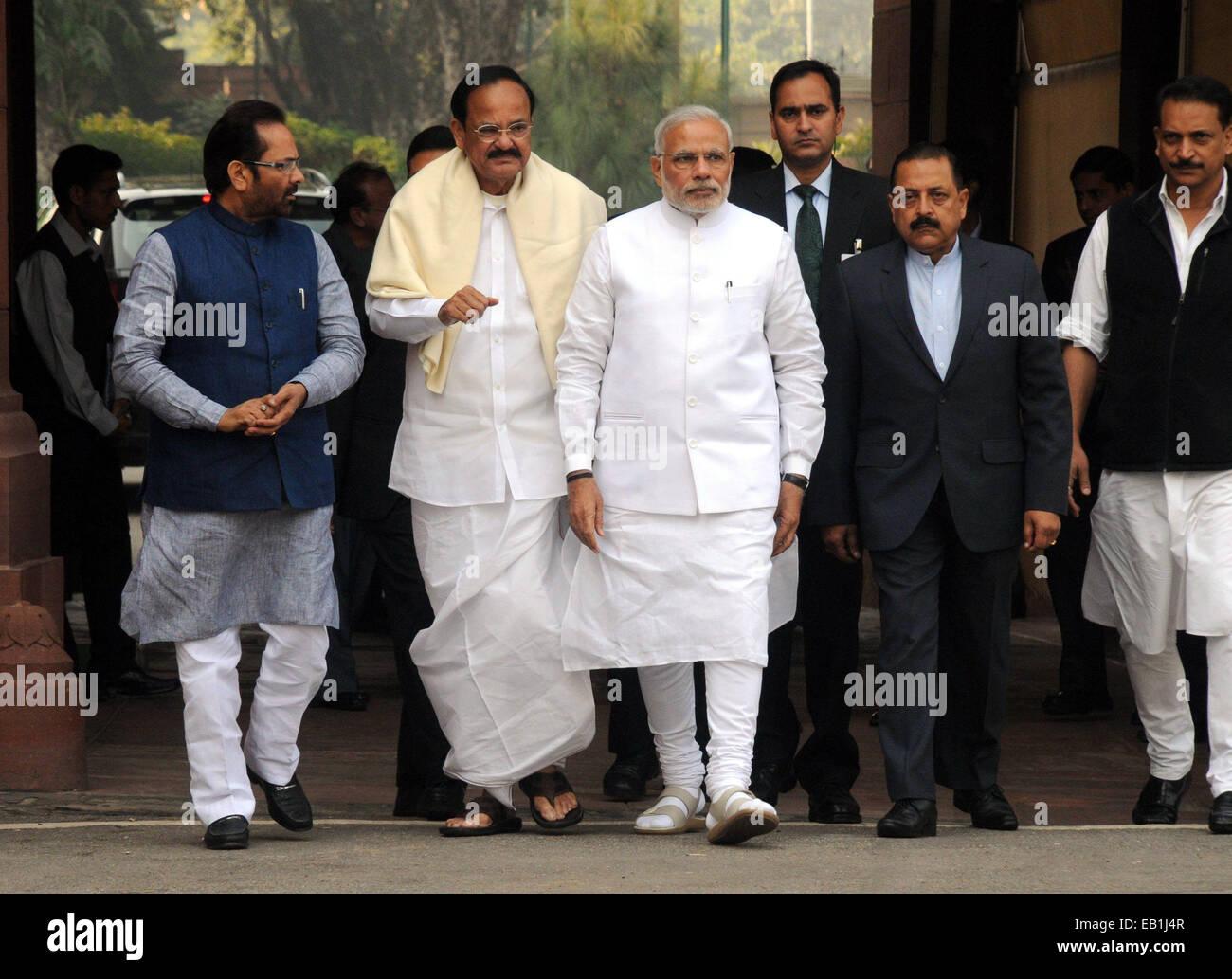 New Delhi, Indian parliament in New Delhi. 24th Nov, 2014. Indian ...