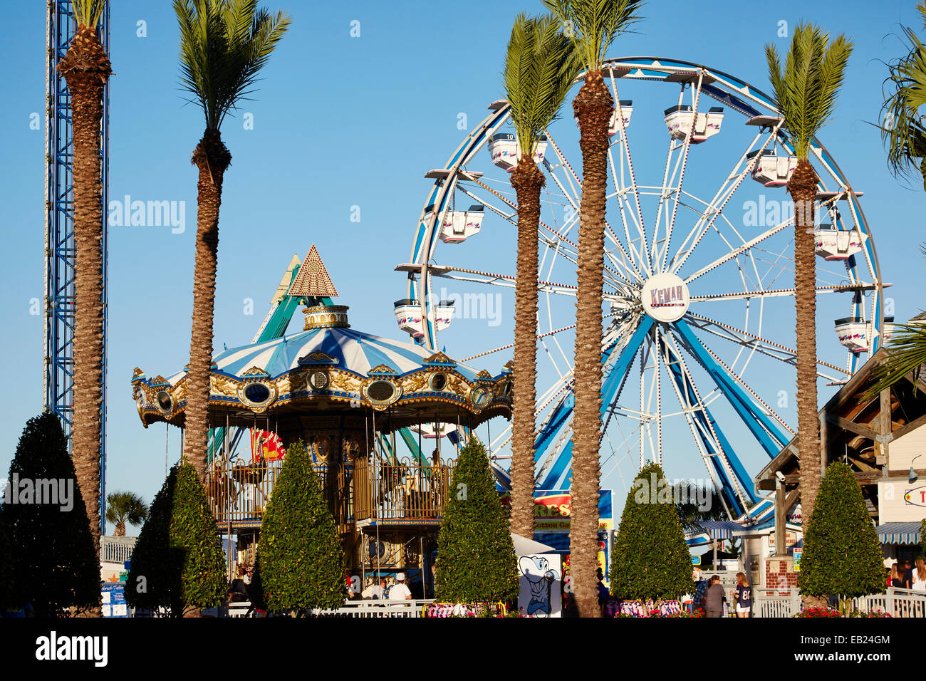 Attractions at Kemah Boardwalk Houston Texas USA Stock Photo
