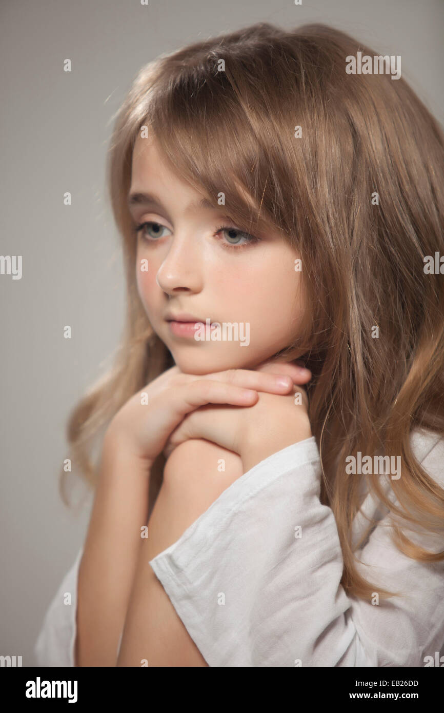 Portrait Of Beautiful Teen Girl Stock Photo, Royalty Free