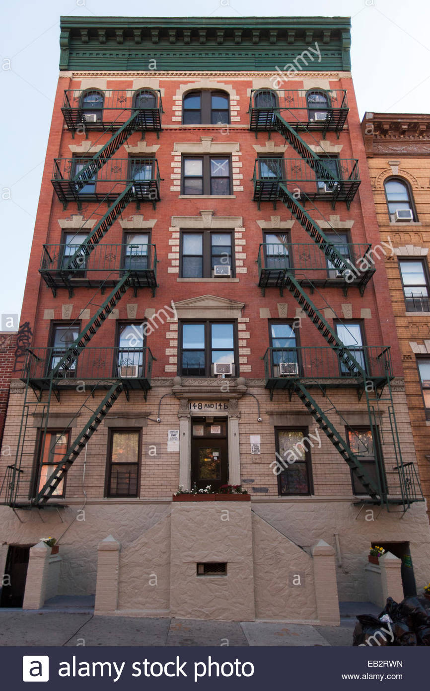 Apartment Building Brooklyn apartment building exterior near park slope brooklyn stock photo