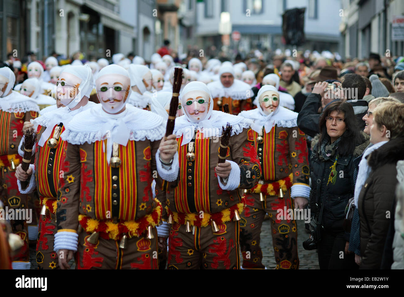 Belgium, carnaval of Binche. UNESCO World Heritage Parade ...