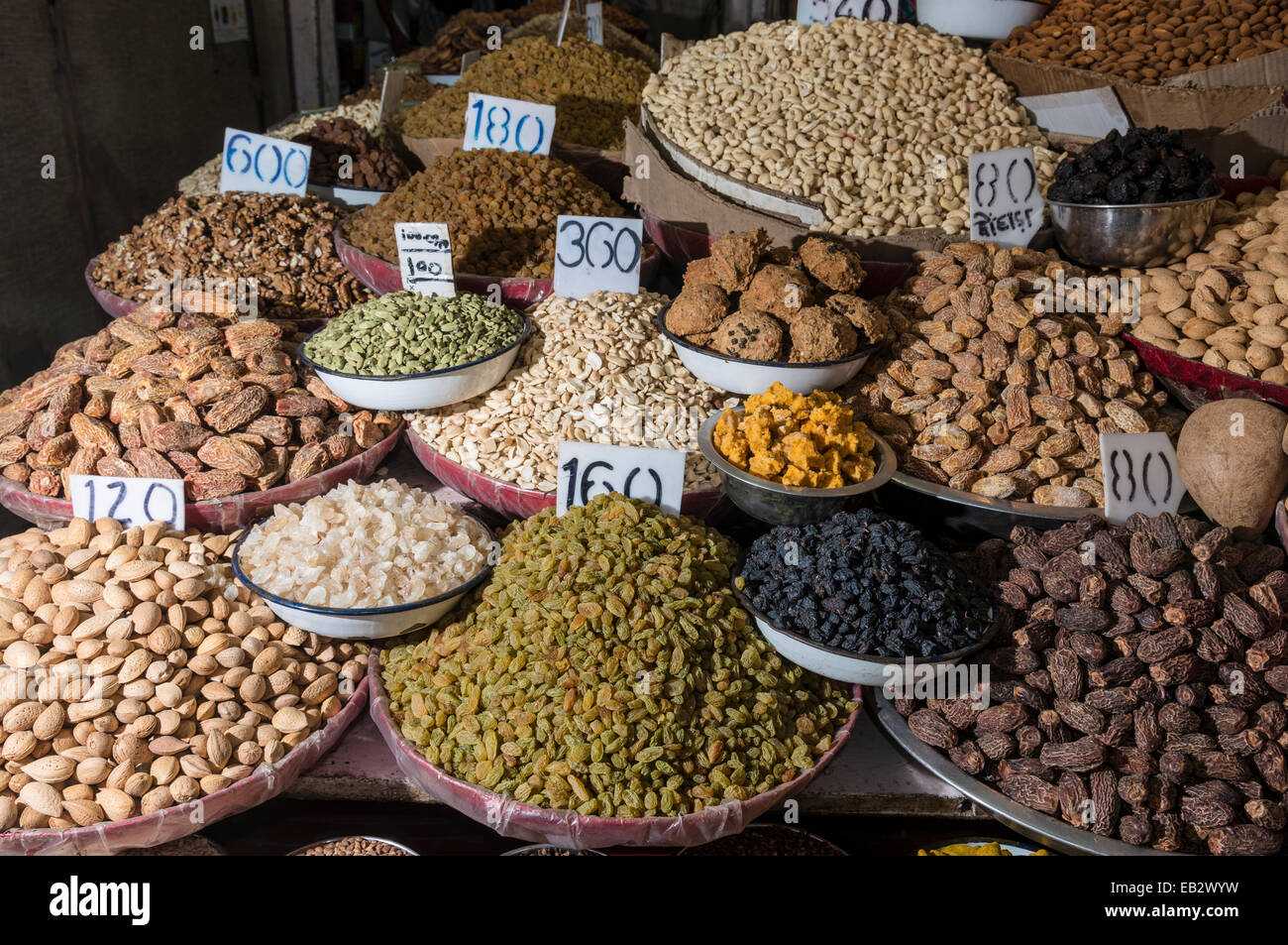 Nuts and spices for sale at the spice market old delhi for City indian dining ltd t a spice trader