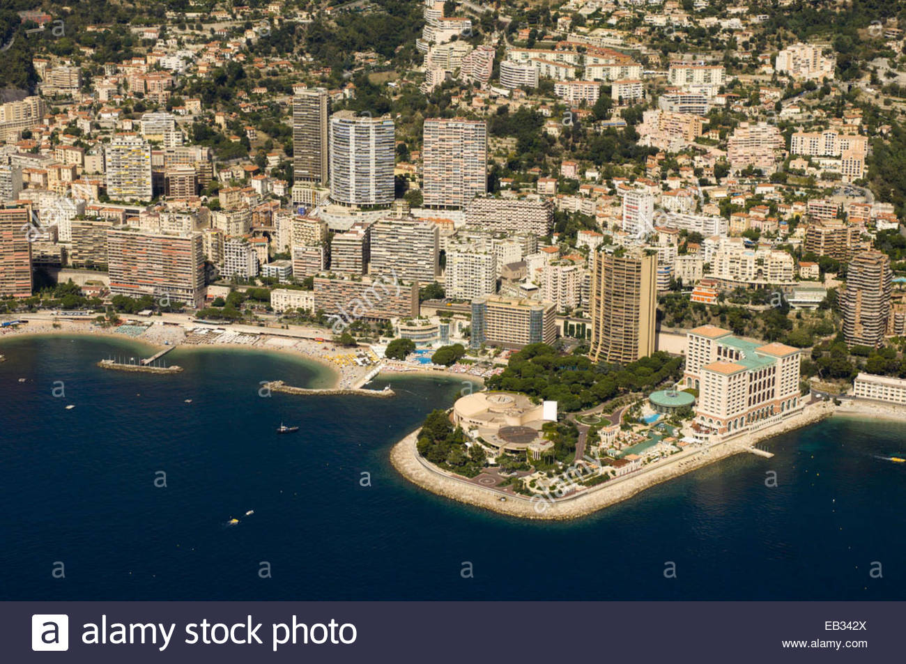 an aerial view of the monte carlo bay hotel resort and casino, and