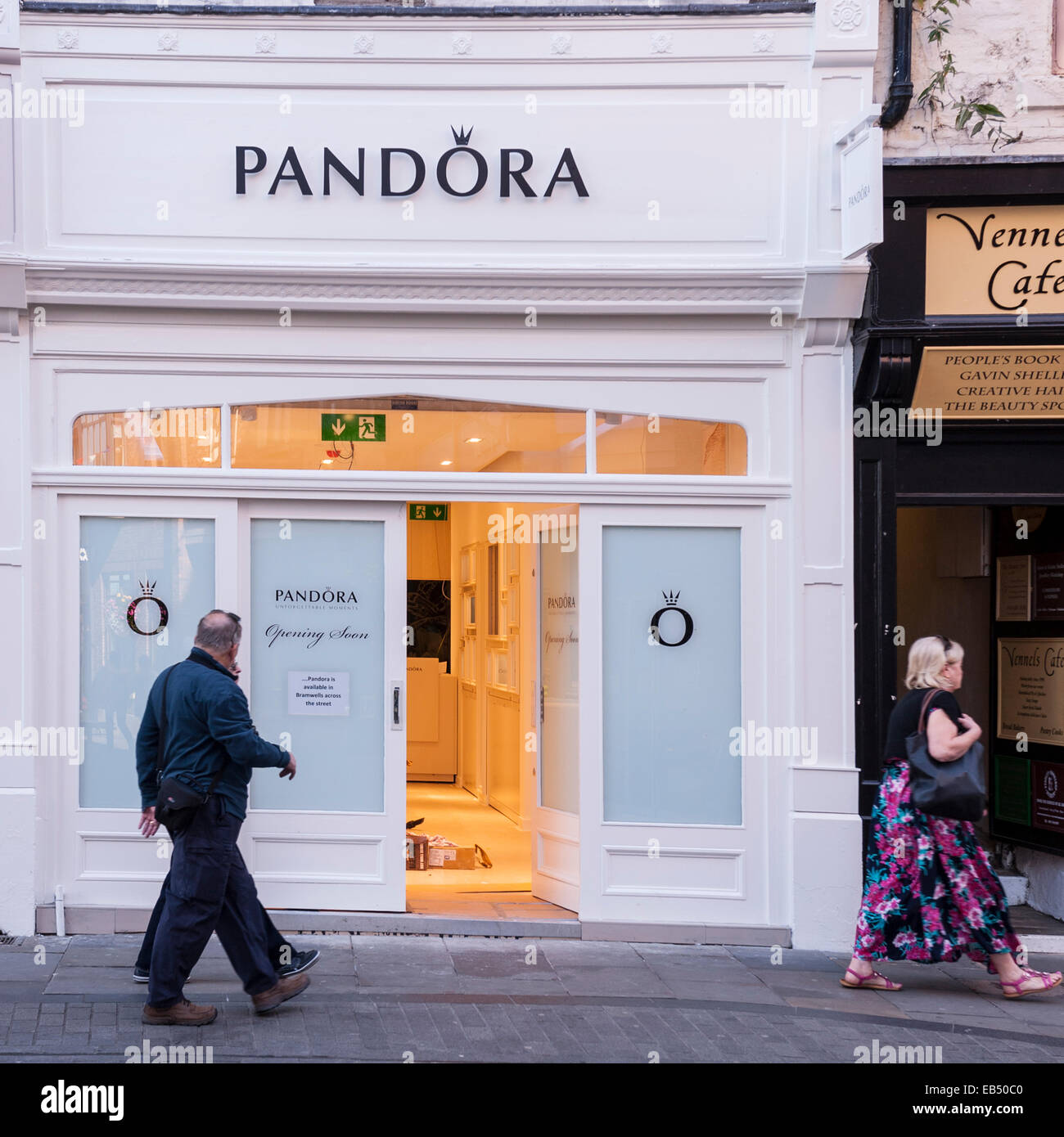 Stock Photo - The Pandora jewellery shop store in Durham , England ,  Britain , Uk