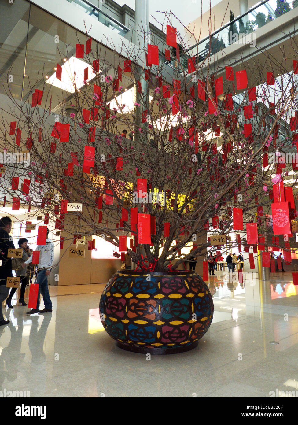 China Hong Kong Chinese Lunar New Year Decoration In Shopping Mall   Stock  Image