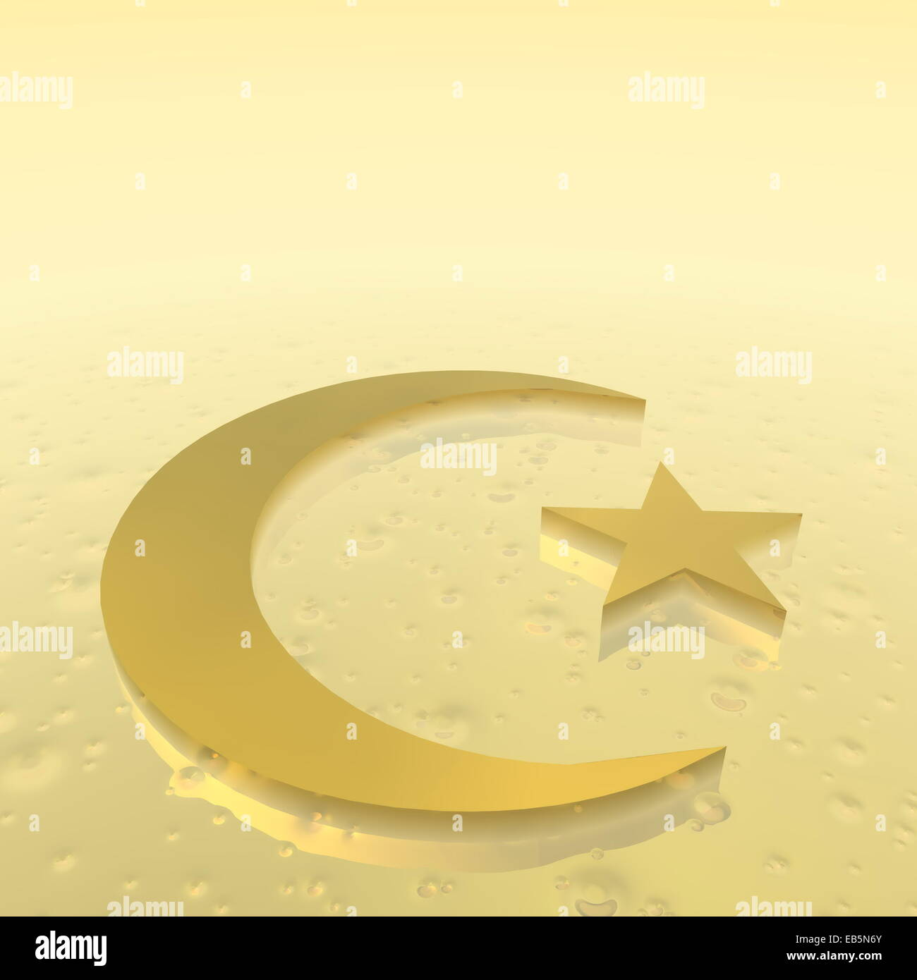 Crescent and star as symbol of islam religion in golden ground crescent and star as symbol of islam religion in golden ground buycottarizona Gallery