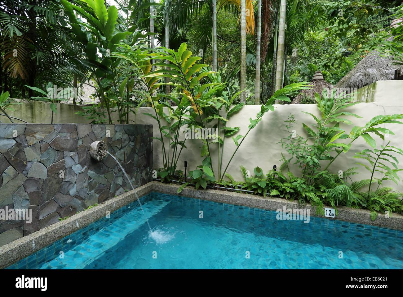 A Private Swimming Pool At The Banjaran Hotspring Retreat Near Ipoh Stock Photo Royalty Free