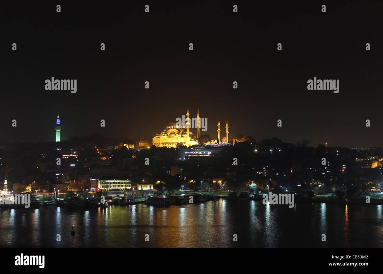 Golden Horn, Suleymaniye Mosque, Beyazit Tower (Serasker ...