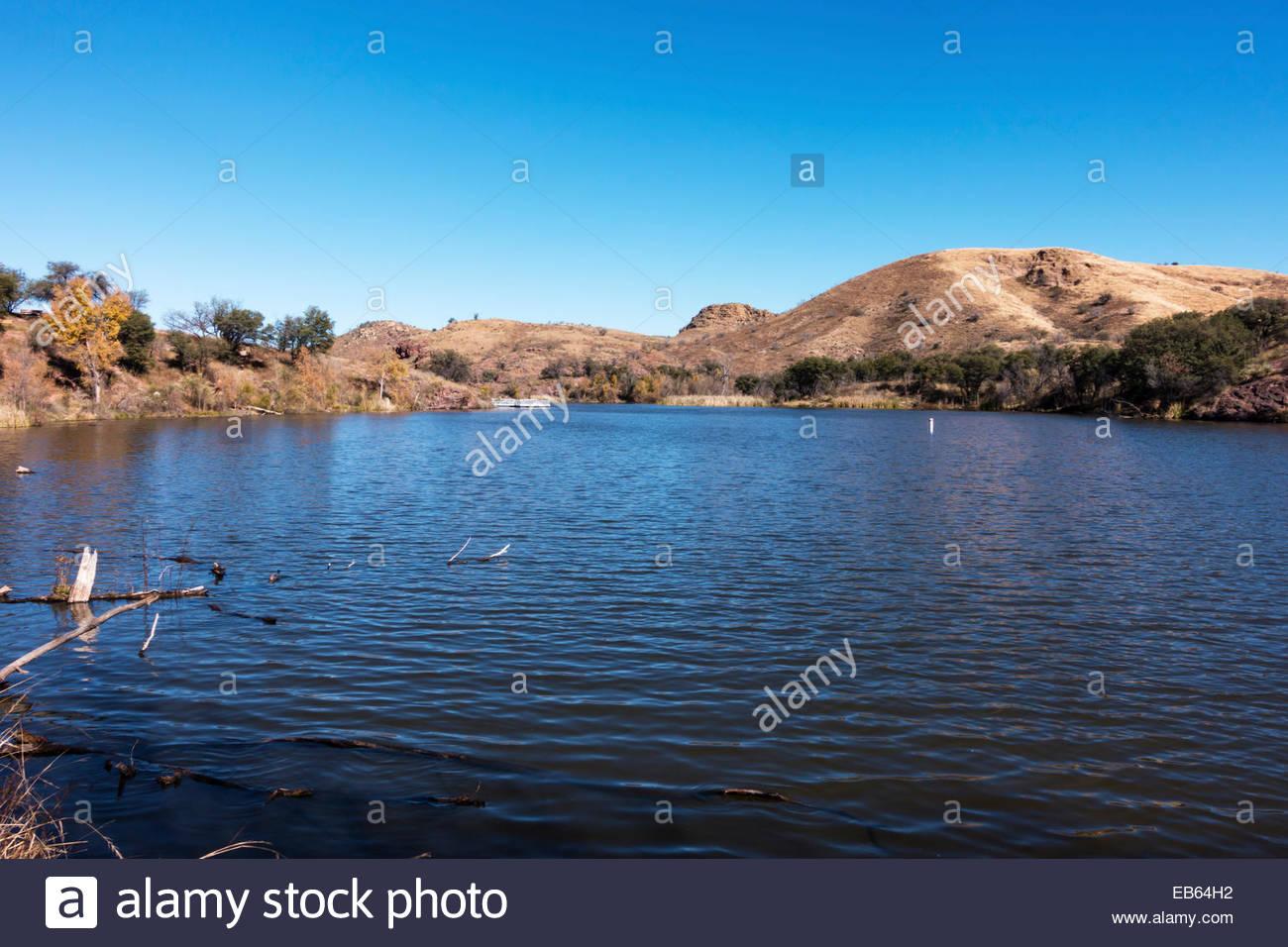 pena blanca lake coronado national forest arizona stock