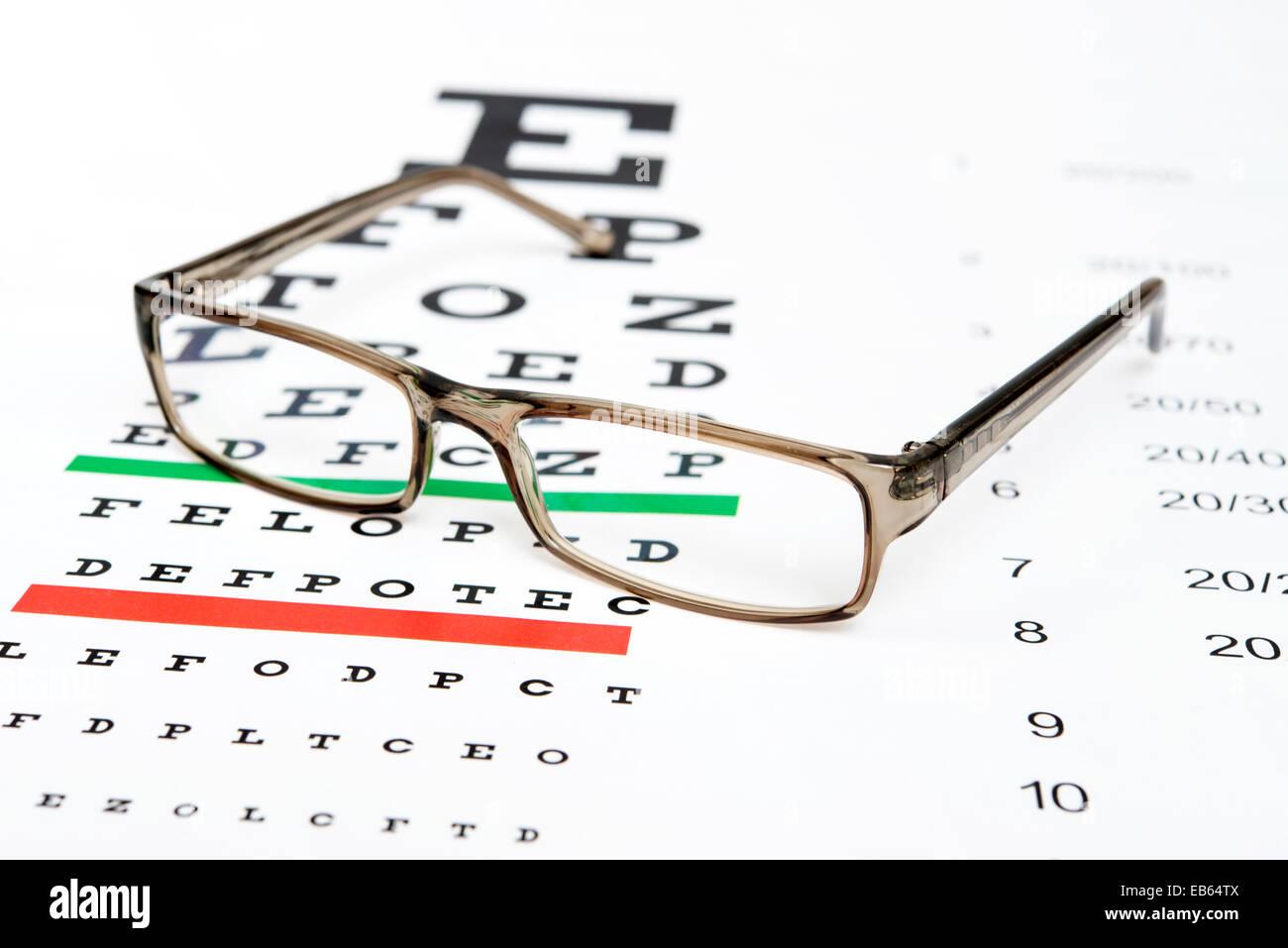 Eyeglasses on the eye chart background stock photo 75738234 alamy eyeglasses on the eye chart background nvjuhfo Choice Image