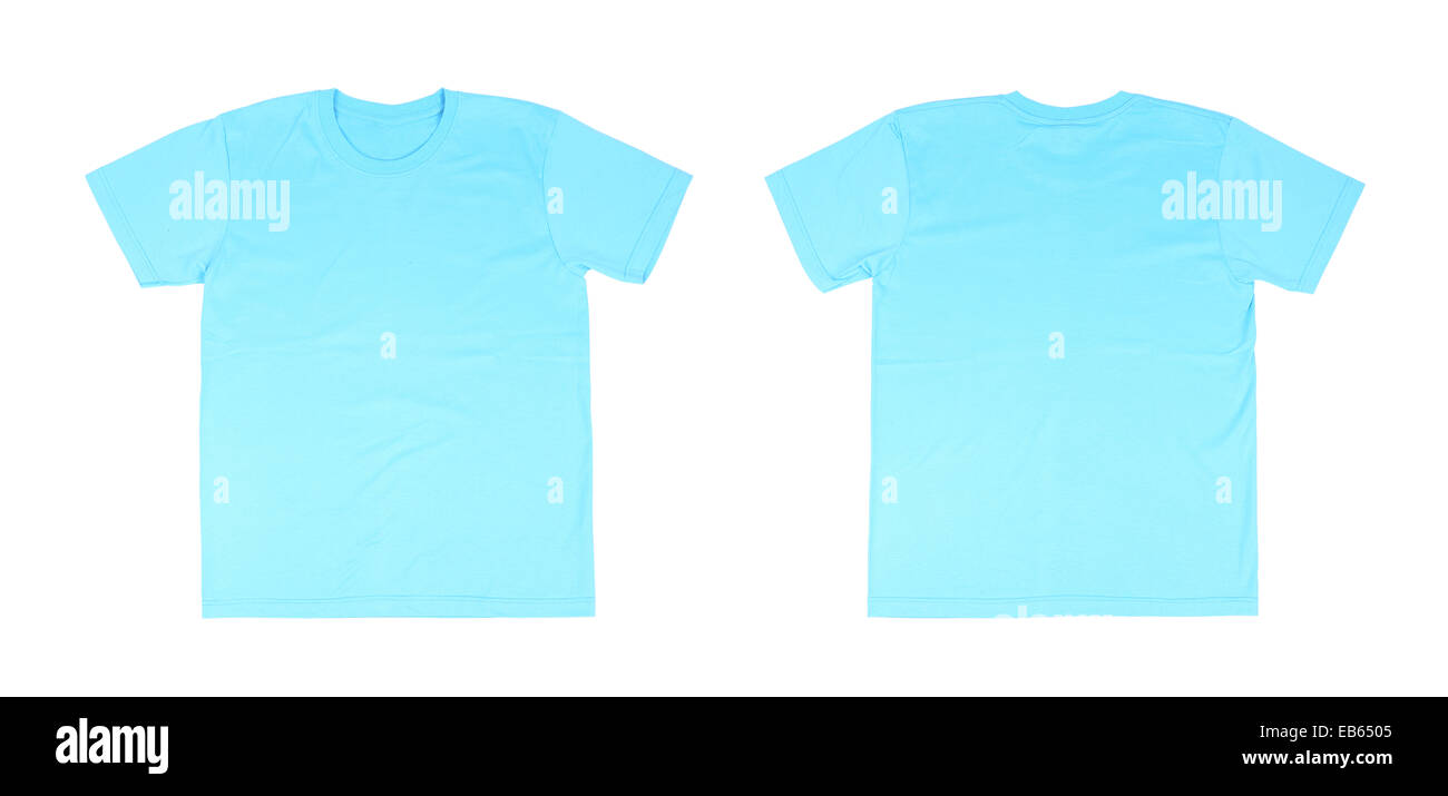 White t shirt front and back template - T Shirt Template Set Front Back On White Background