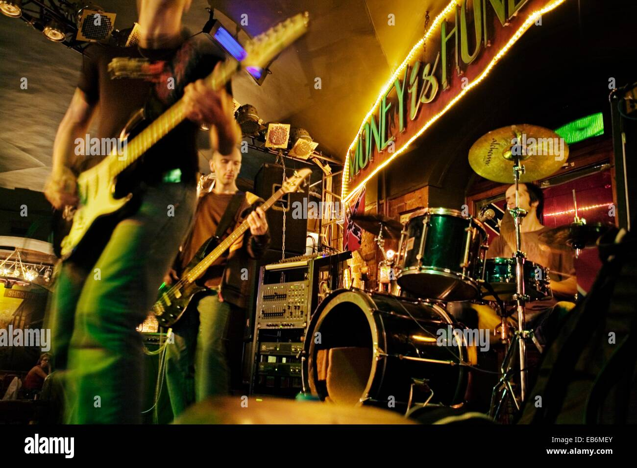 money honey bar rockabilly concert street spraksin dvor 14 st stock photo 75750499 alamy. Black Bedroom Furniture Sets. Home Design Ideas