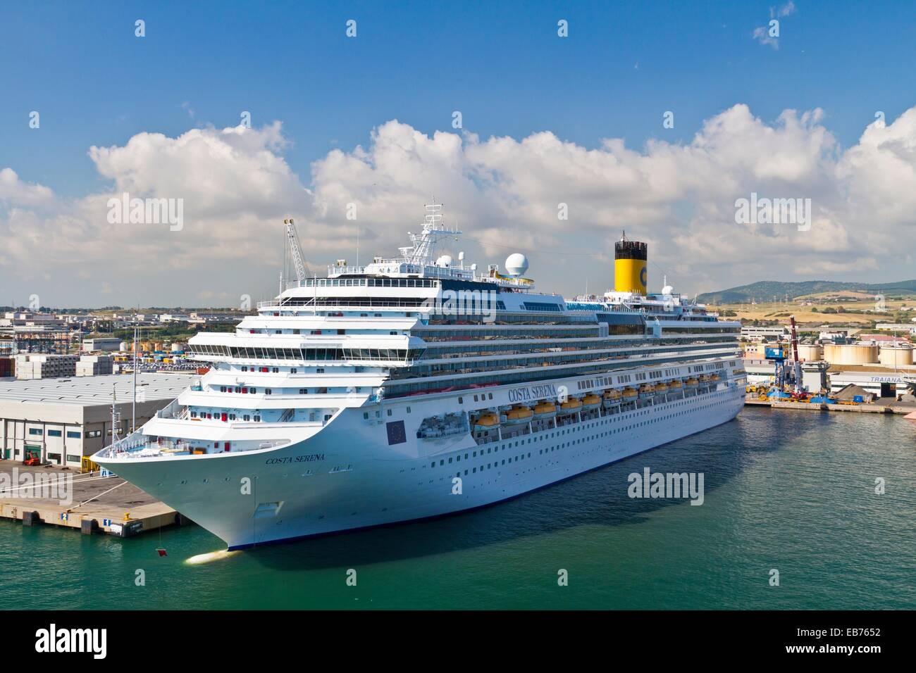The cruise ship costa serena in the port of civitavecchia - Rome civitavecchia italy cruise port ...