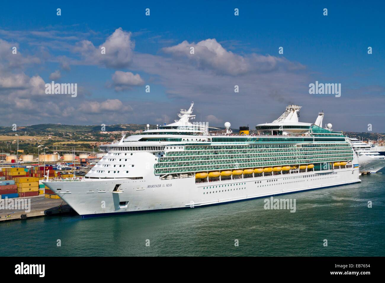 The cruise ship mariner of the seas in the port of - Rome civitavecchia italy cruise port ...