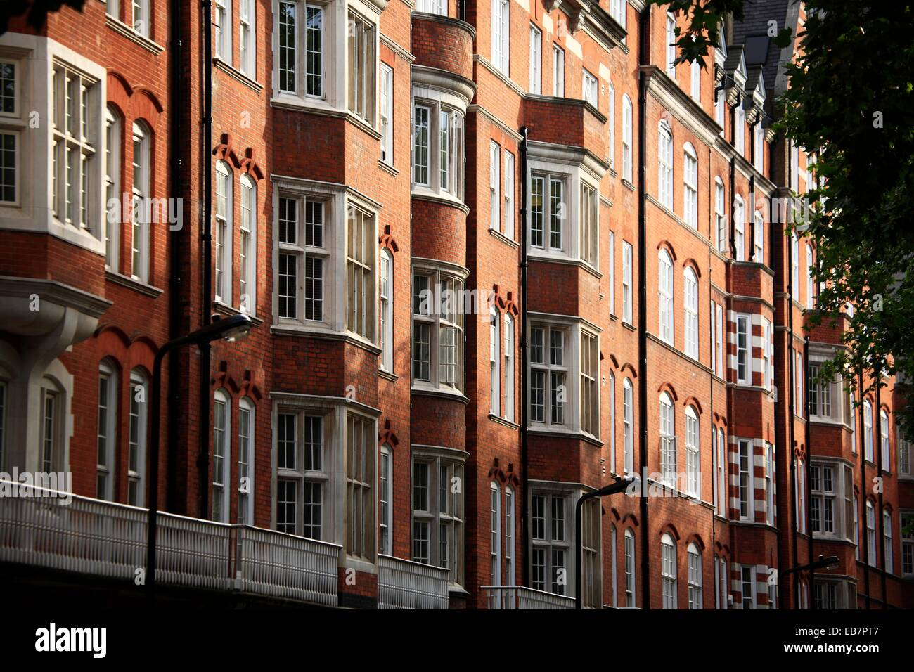 Traditional apartment buildings in west London, England, UK Stock ...