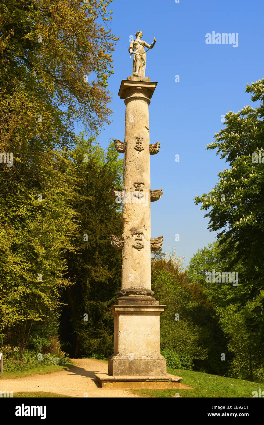 A Neo Classic column in the English gardens designed by Capability
