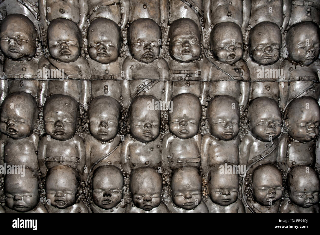 one of walls in H.R. Giger Museum Bar in Gruyeres ... H.r. Giger Wallpaper