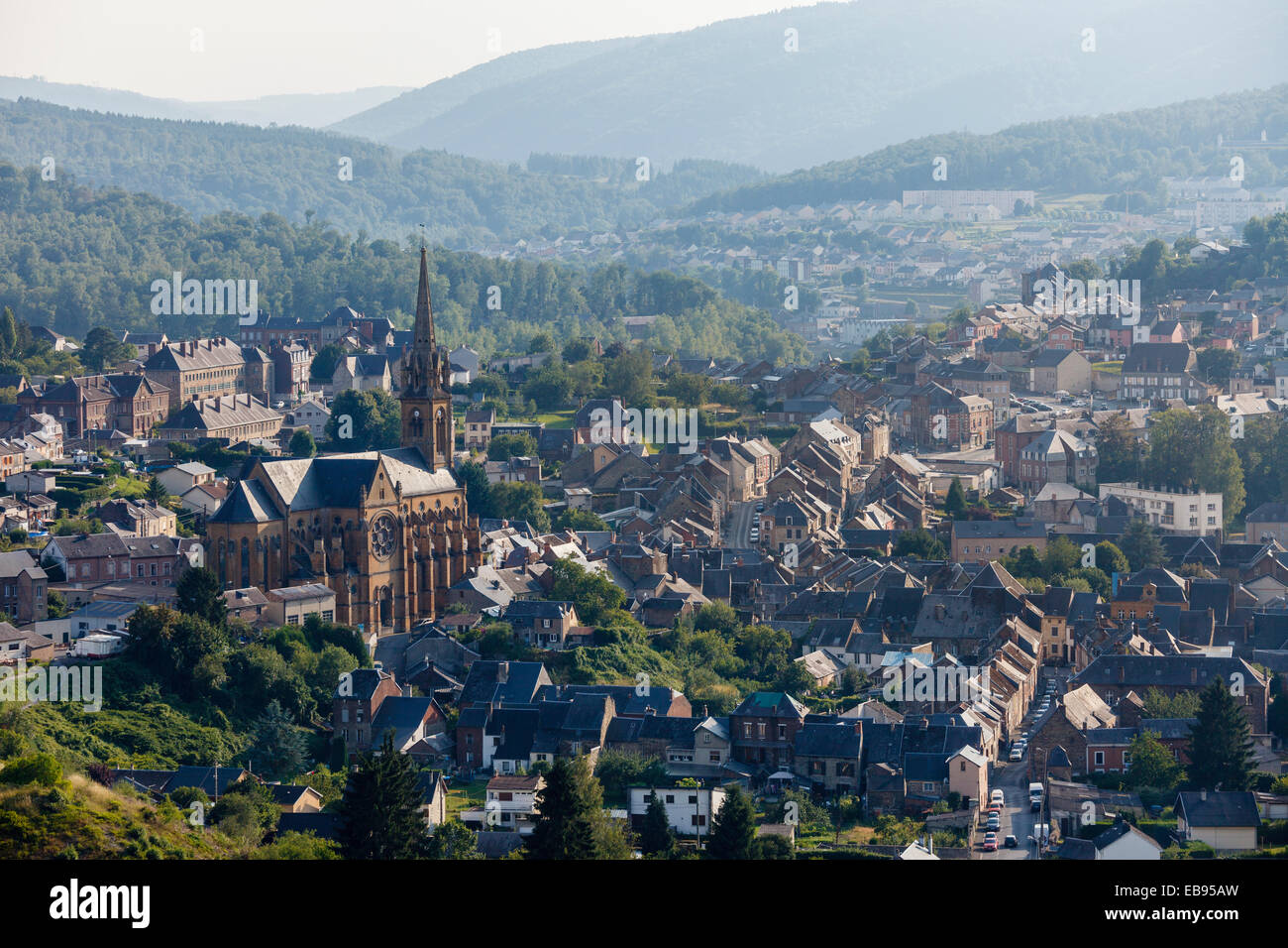 Fumay in the meuse valley ardennes france stock photo - Plateforme meuse champagne ardenne ...