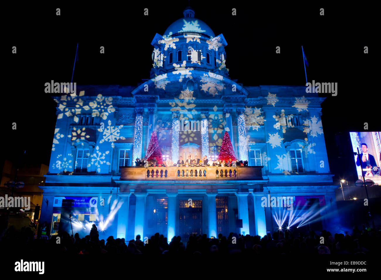 The Christmas lights switch-on event at the City Hall in Queen Victoria Square Hull East Yorkshire UK. 27th November 2014. Credit LEE BEEL/Alamy & Hull UK. 27th Nov 2014. The Christmas lights switch-on event at ... azcodes.com