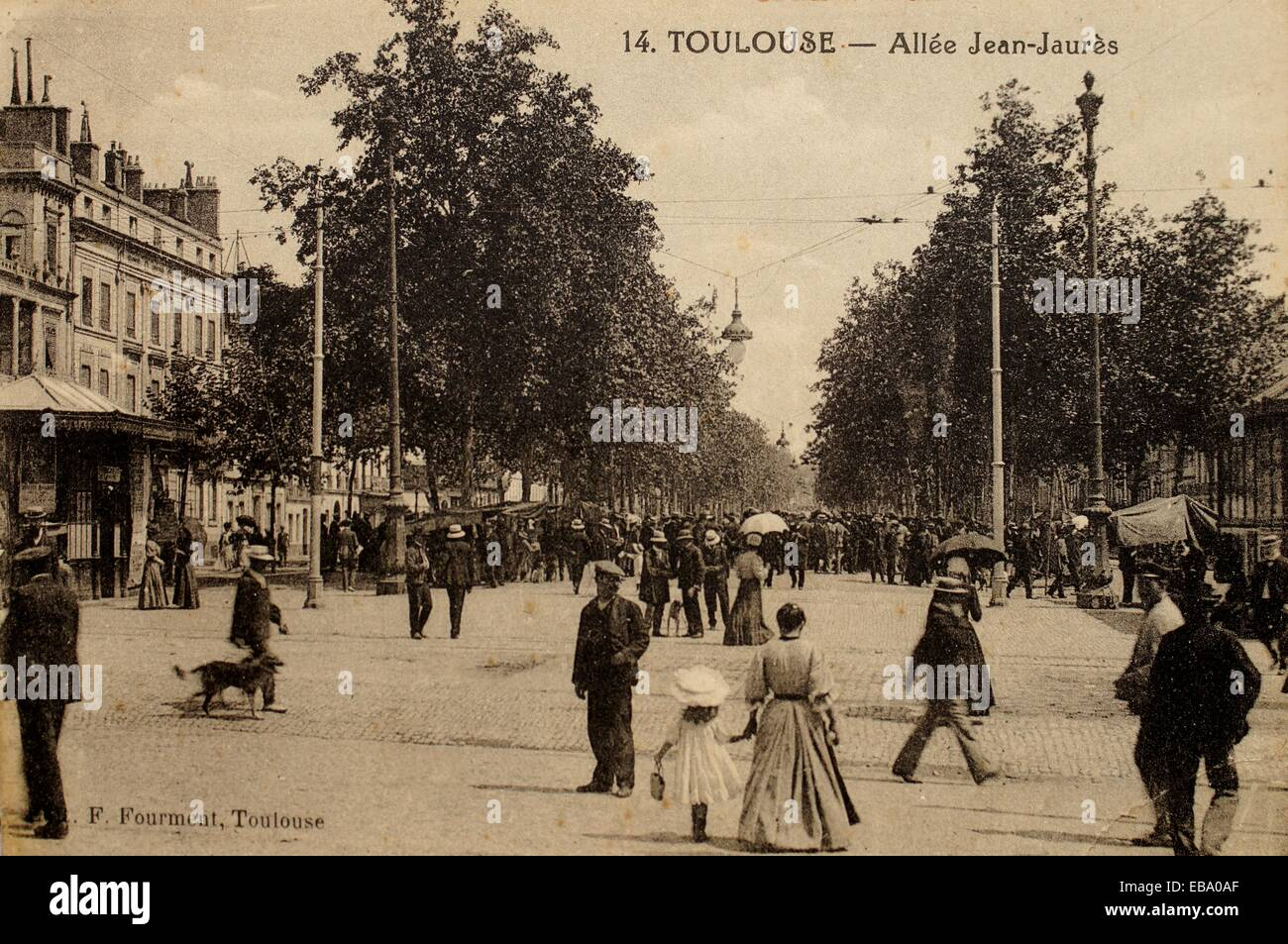 Postcard around 1890 all e jean jaur s toulouse france - Cabinet ophtalmologie jean jaures toulouse ...