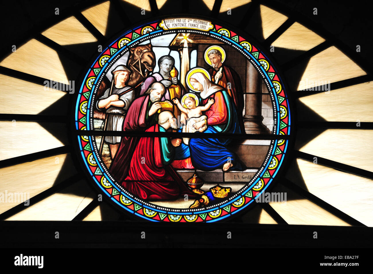 Stained Glass Window, Holy Family, St. Catherine Church