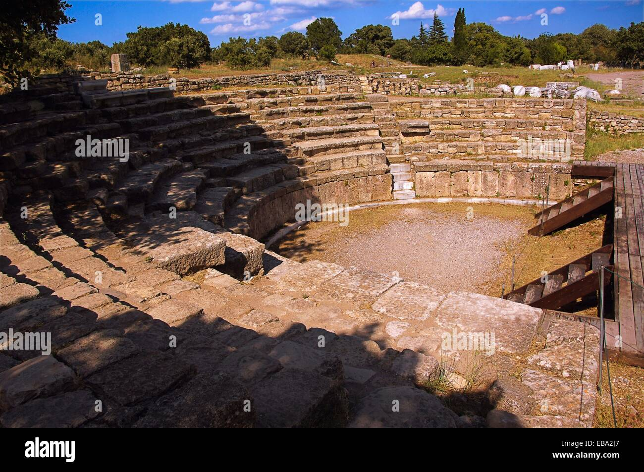 Odeion and Bouleuterion at Troy IX, Troy / Truva, Turkey. (Ancient Stock Phot...