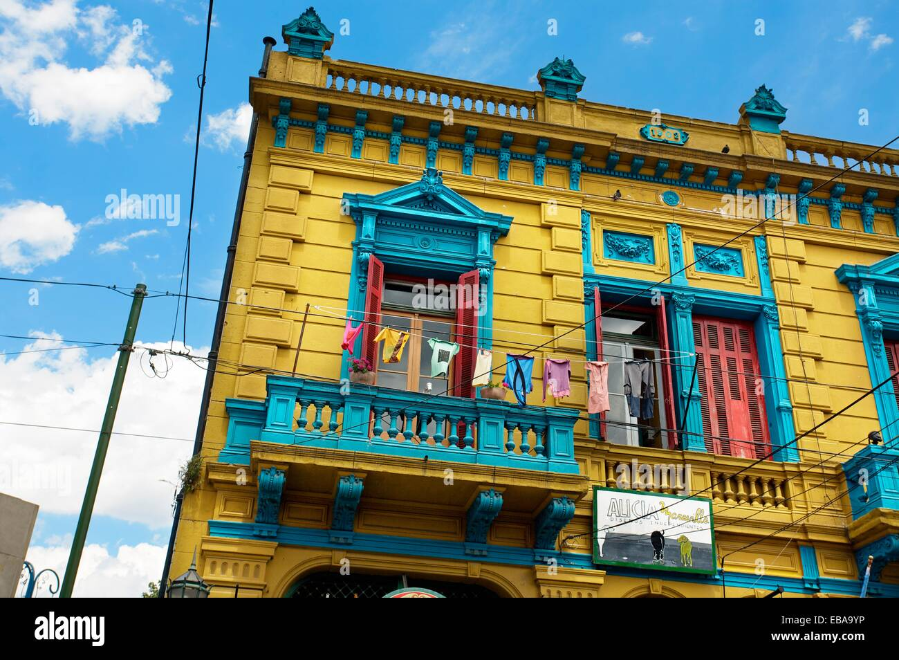 Paintings La Boca Buenos Aires Argentina South America Stock Photo ...