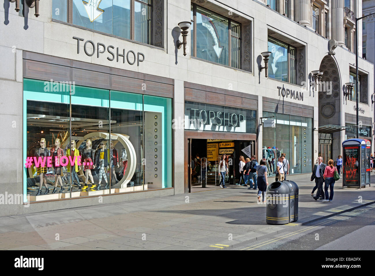 Early morning view of Topshop and Topman stores in Oxford ...