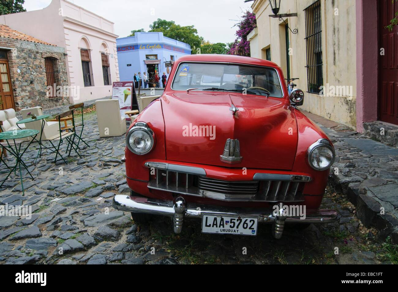 classic car colonia del sacramento uruguay stock photo royalty free image 75867340 alamy. Black Bedroom Furniture Sets. Home Design Ideas
