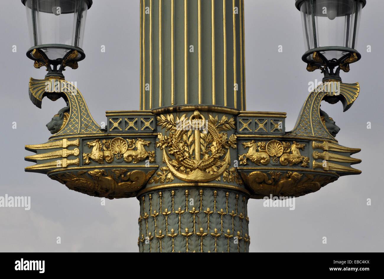 Paris France Art Deco Lamp With Egyptian Influences