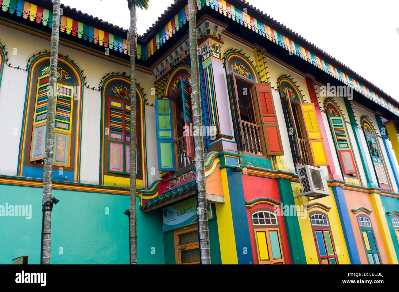 colorful house in little india singapore stock photo On colourful house india