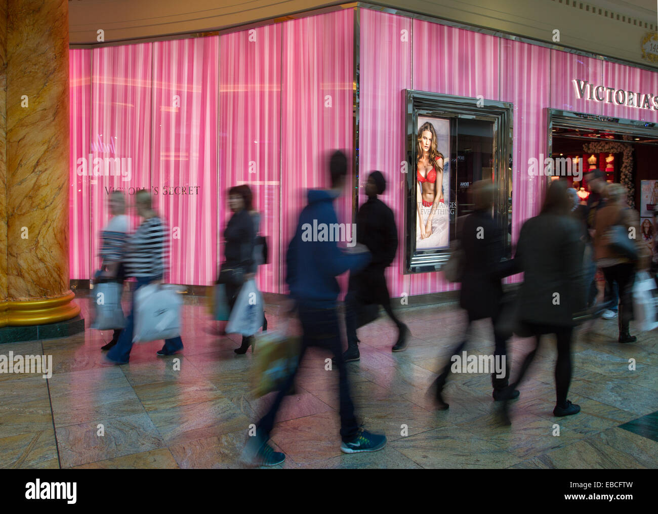 Trafford Centre shopping centre in Manchester. Victoria's Secret ...