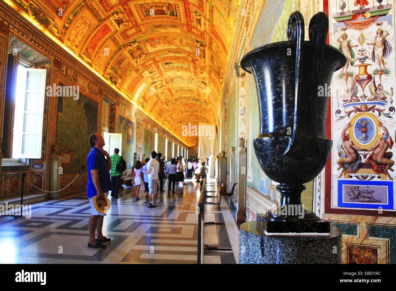 Hall of Maps Vatican Museums Vatican City Rome Italy Stock