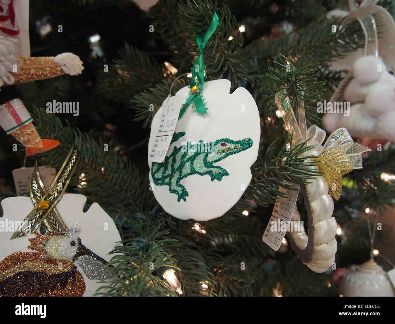 Seainspired Christmas Ornaments At A Shop On Sanibel Island, Florida, Usa,  October 5, 2014, © Katharine Andriotis