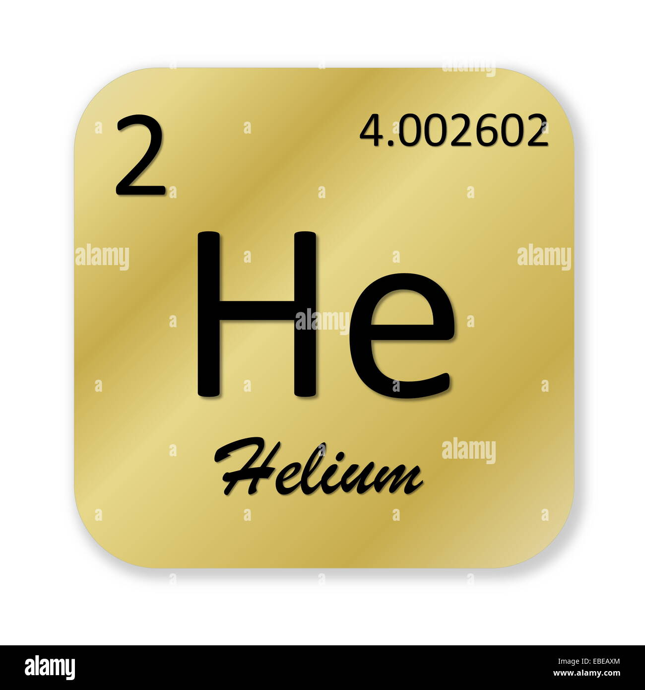 Black helium element into golden square shape isolated in white black helium element into golden square shape isolated in white background gamestrikefo Images
