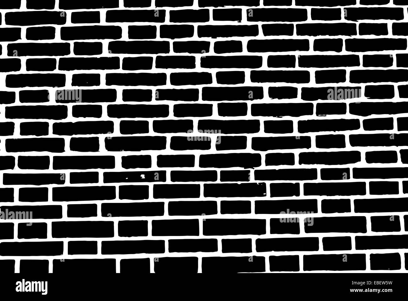 Black brick wall texture vector background old rough ...