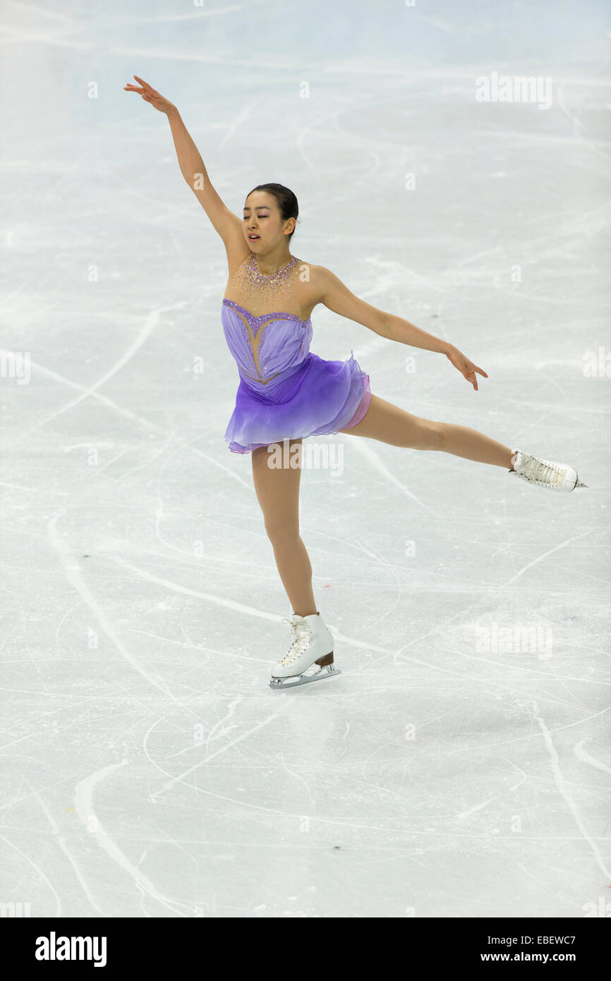 Mao Asada Jpn Competiting In The Womens Figure Skating Short Program At The Olympic Winter Games Sochi