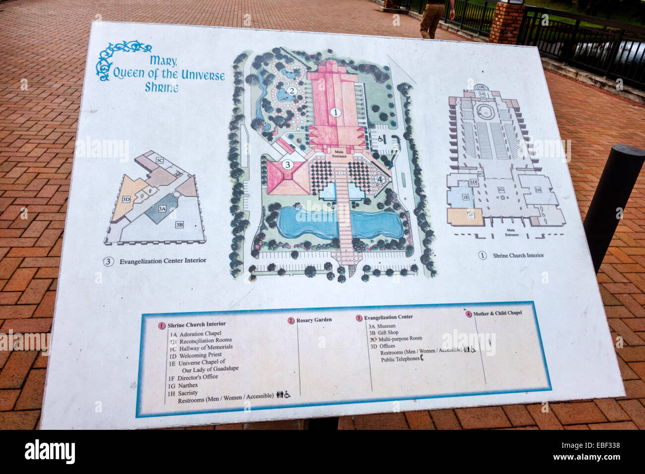 Orlando Florida Mary Queen of the Universe Shrine directory map