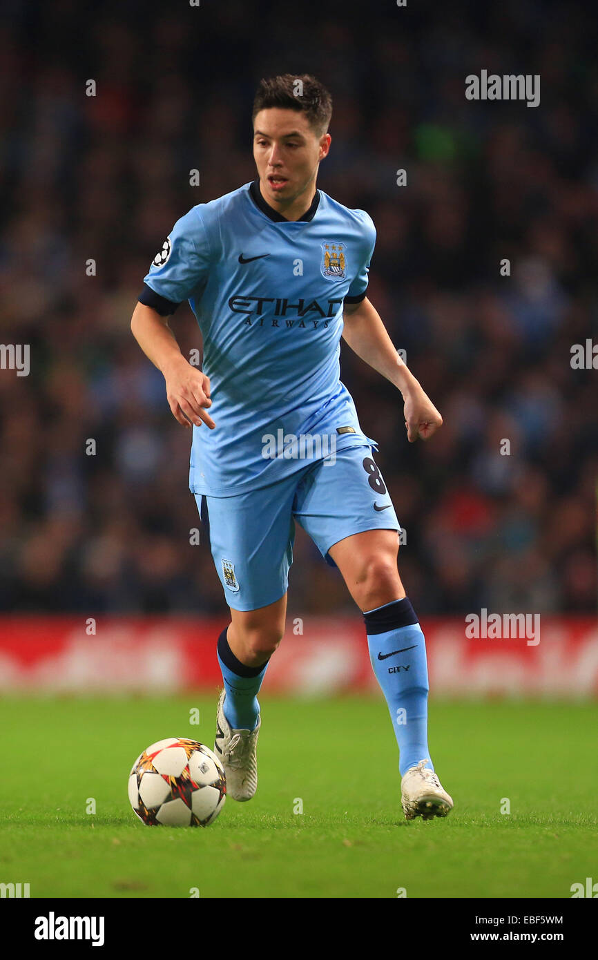 Manchester UK 25th Nov 2014 Samir Nasri of Manchester City