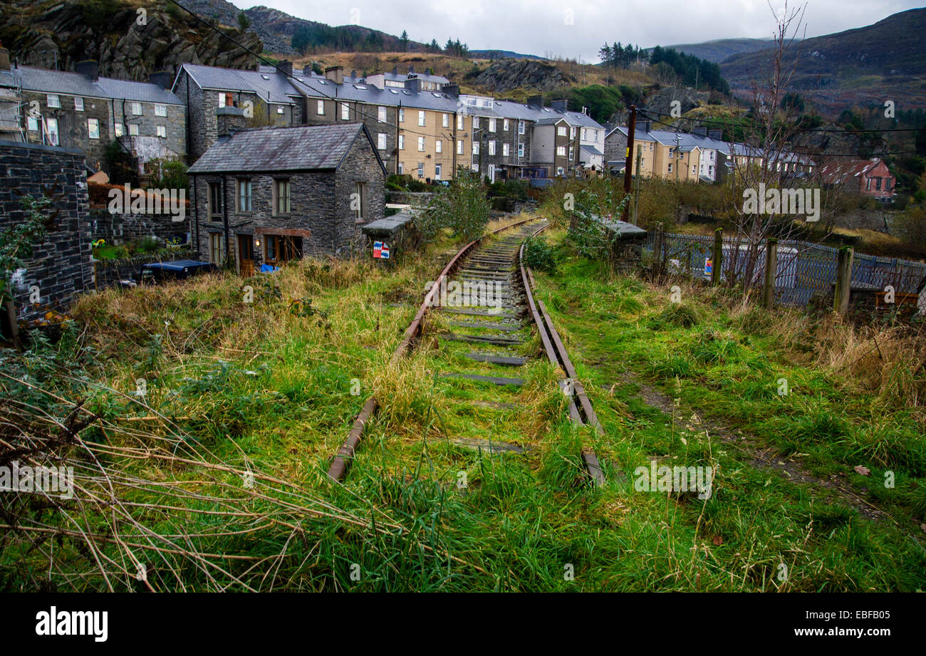 A Disused Railway Line In Blaenau Ffestiniog North Wales