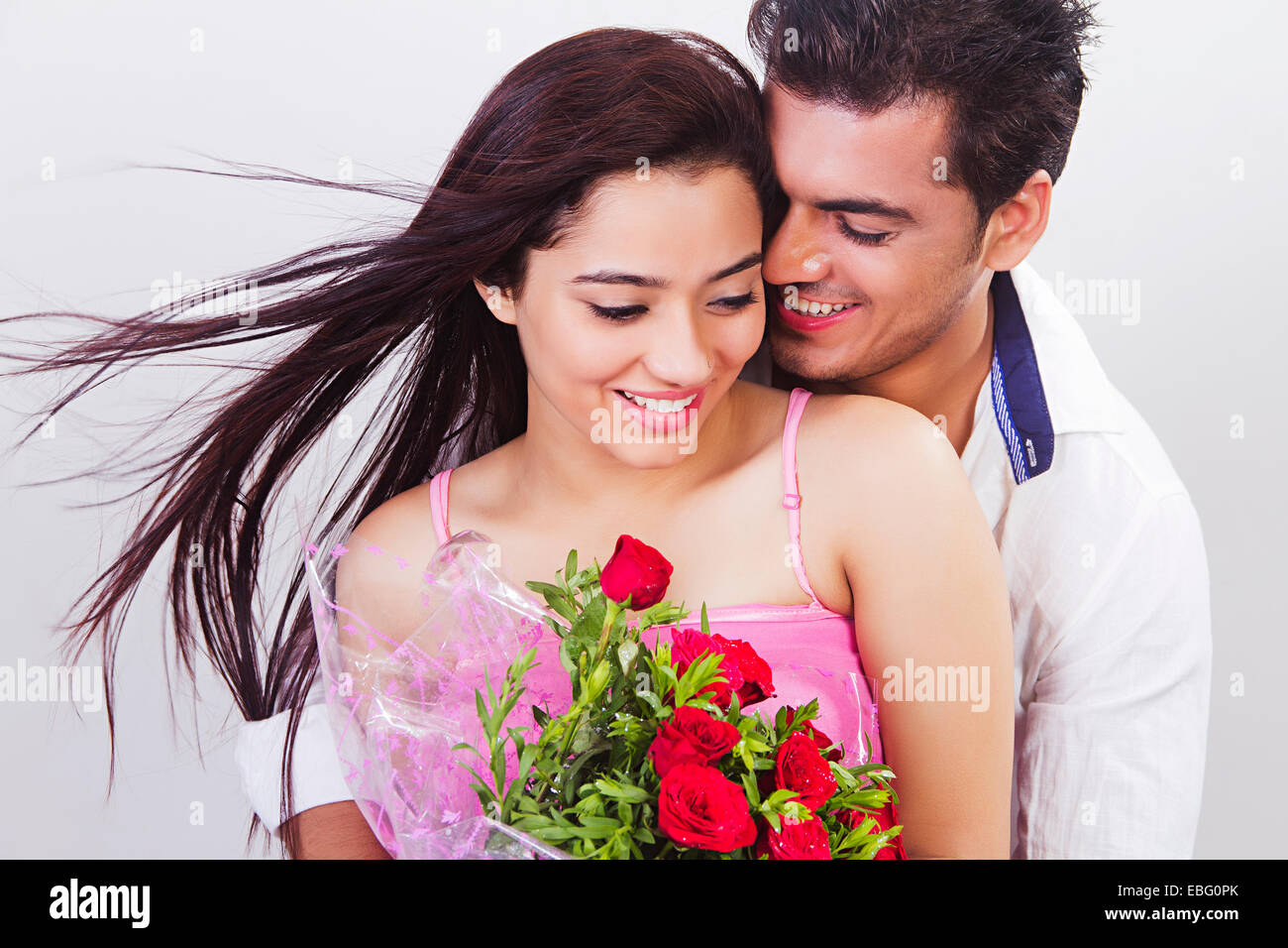 Indian Couple Valentine Day Proposing