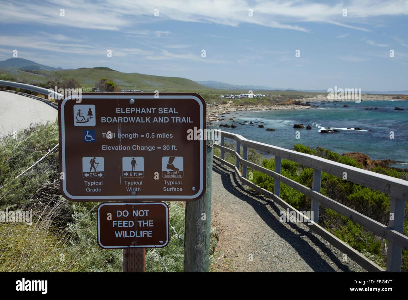 Piedras Blancas Northern Elephant Seal Rookery Pacific Coast - Usa width coast to coast