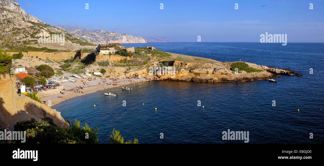 bay at the coast of the calanques france provence. Black Bedroom Furniture Sets. Home Design Ideas
