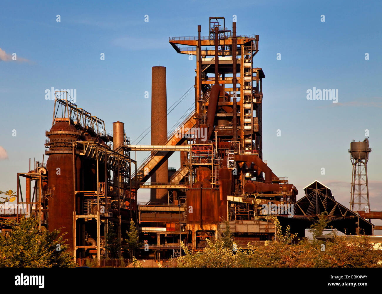 Blast Furnace Construction : Blast furnace of the abandoned steel mill phoenix west