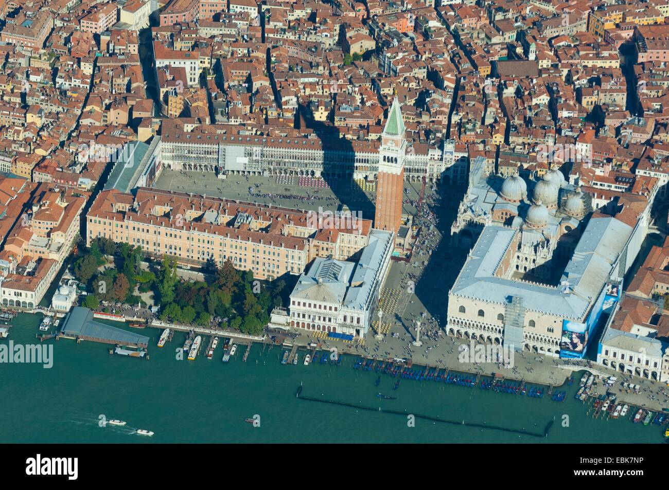 Aerial View Of Piazza San Marco Venice Italy Europe Stock Photo - Venice san marco map