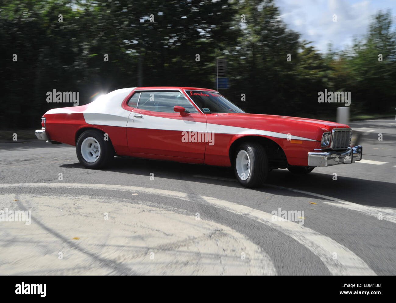 ford gran torino starsky and hutch replica car stockfoto. Black Bedroom Furniture Sets. Home Design Ideas